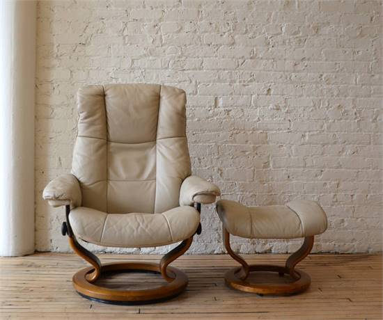 Ekornes Stressless Danish Leather High-End Recliner Chair