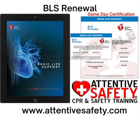 2/14-2/27: BLS Renewal Classroom Course, $60, Same day card