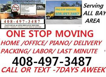 🛑Bay Area=LAST MINUTE MOVING SERVICE》HOME-OFFICE-PIANO-DELIVERY-LABOR