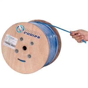 1000ft Cat6a Plenum Cable Solid Copper 750 Mhz 23 AWG UTP