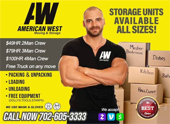 🇺🇸🇺🇸AMERICAN WEST MOVING SERVICES $49HR 2MAN CREW FREE TRUCK OF ANY