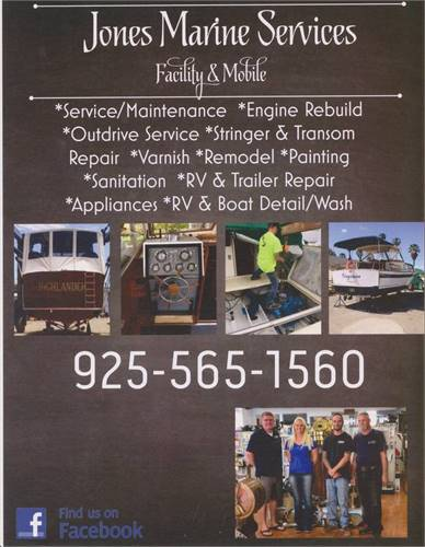 Jones Marine Services Shop & Mobile Free pick up and Delivery