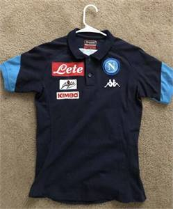 Soccer player-issued Napoli polo shirt by Kappa
