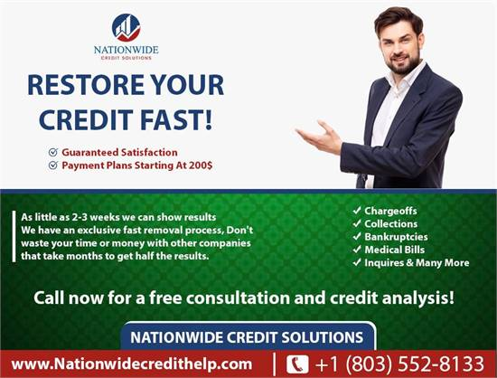 PREMIER CREDIT RESTORATION PROGRAM! RESULTS IN WEEKS NOT MONTHS!